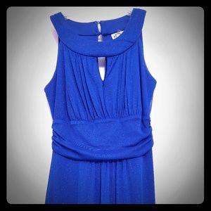 Sparkly blue maxi dress